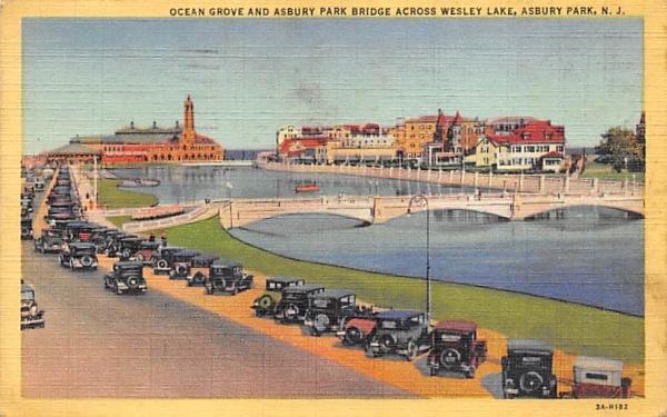 Ocean Grove & Asbury Park Bridge New Jersey Postcard