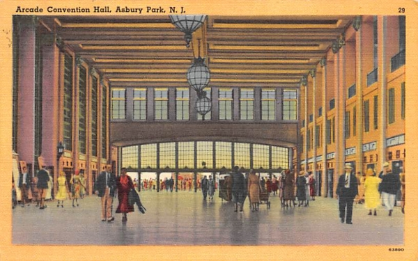 Arcade Convention Hall Asbury Park, New Jersey Postcard