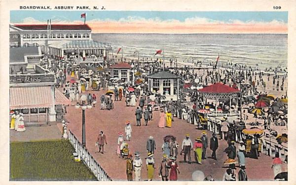 Boardwalk Asbury Park, New Jersey Postcard
