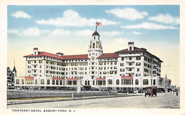 Monterey Hotel Asbury Park, New Jersey Postcard