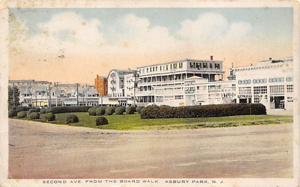Second Ave. from the Boardwalk Asbury Park, New Jersey Postcard
