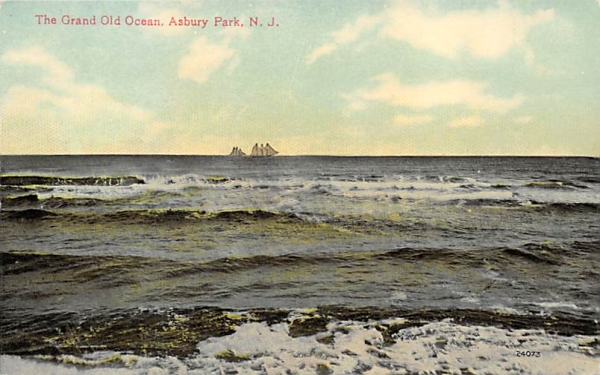 The Grand Old Ocean Asbury Park, New Jersey Postcard