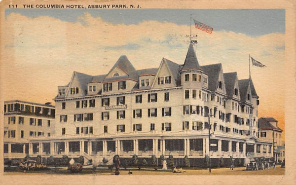 The Columbia Hotel Asbury Park, New Jersey Postcard