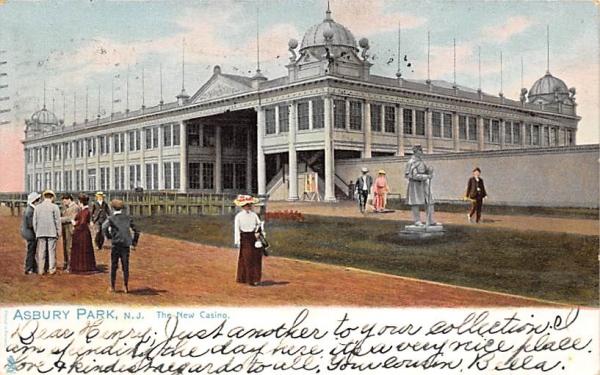The New Casino Asbury Park, New Jersey Postcard