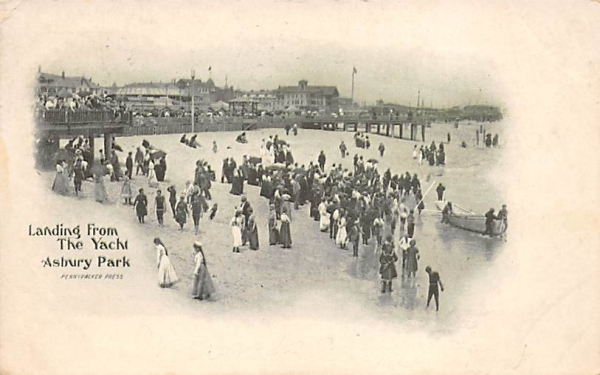 Landing from the Yacht  Asbury Park, New Jersey Postcard