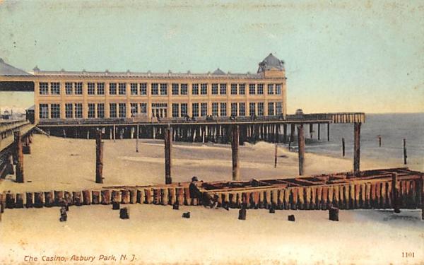 The Casino Asbury Park, New Jersey Postcard
