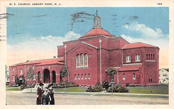 M. E. Church Asbury Park, New Jersey Postcard