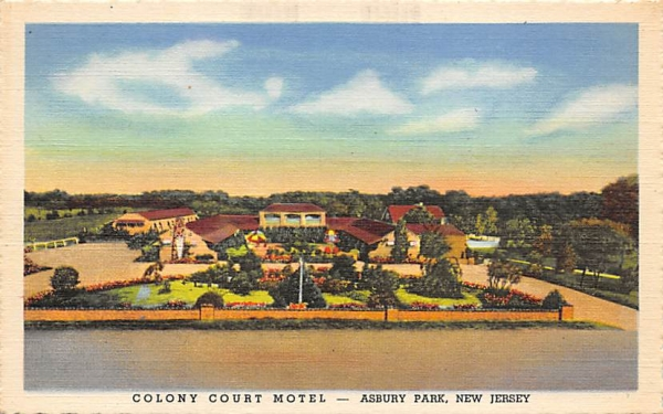 Colony Court Motel Asbury Park, New Jersey Postcard