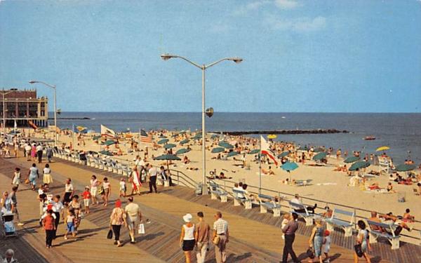 Beach  Asbury Park, New Jersey Postcard