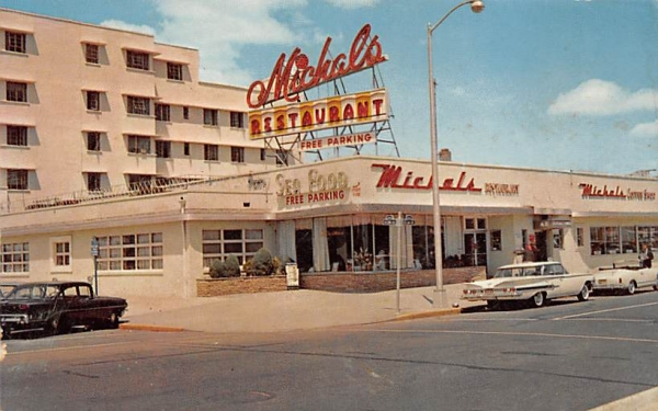 Michals Sea Food Restaurant Asbury Park, New Jersey Postcard