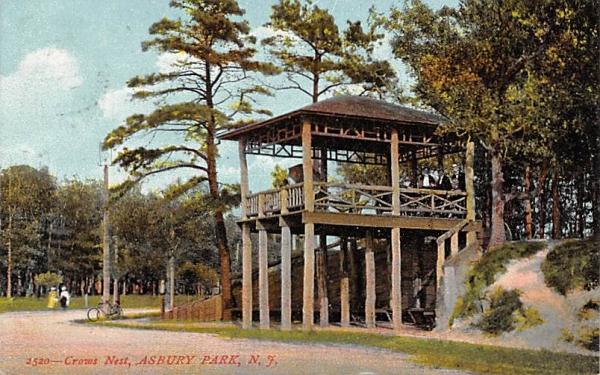 Crows Nest Asbury Park, New Jersey Postcard