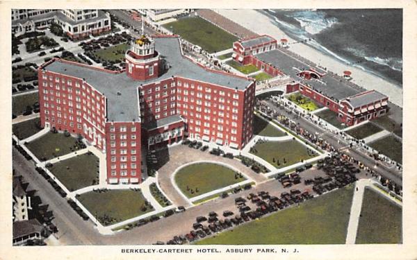 Berkeley-Carteret Hotel Asbury Park, New Jersey Postcard