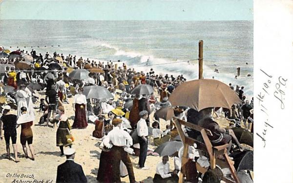 On the Beach Asbury Park, New Jersey Postcard