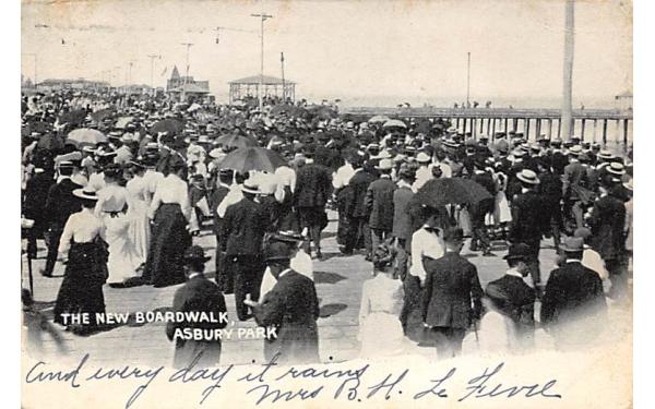 The New Broadwalk Asbury Park, New Jersey Postcard