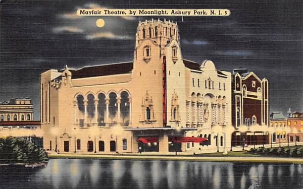 Mayfair Theatre, by Moonlight Asbury Park, New Jersey Postcard