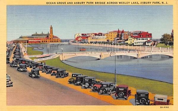 Ocean Grove and Asbury Park Bridge New Jersey Postcard