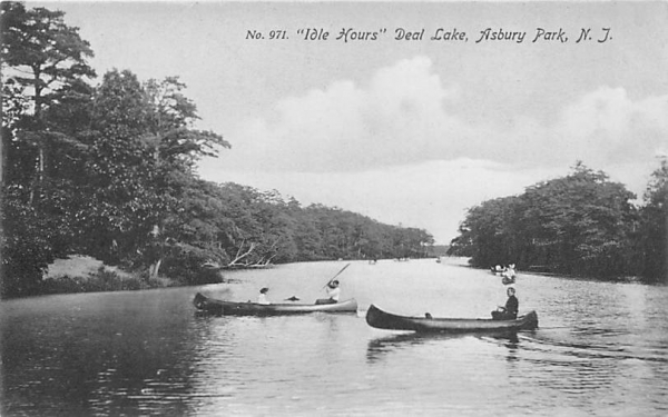 Idle Hours Deal Lake Asbury Park, New Jersey Postcard