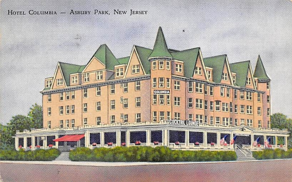 Hotel Columabia Asbury Park, New Jersey Postcard