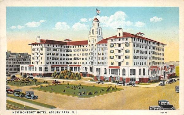 New Monterey Hotel Asbury Park, New Jersey Postcard