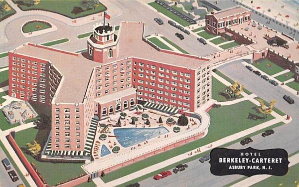 Hotel Berkeley-Carteret Asbury Park, New Jersey Postcard