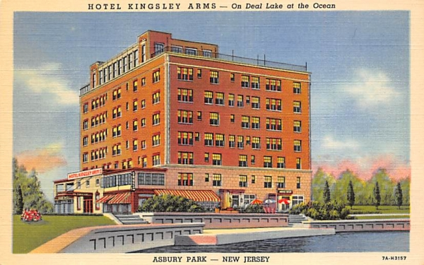 Hotel Kingsley Arms Asbury Park, New Jersey Postcard
