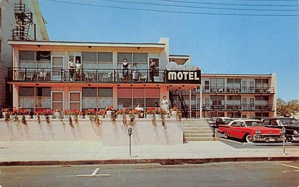 Flamingo Motel Asbury Park, New Jersey Postcard