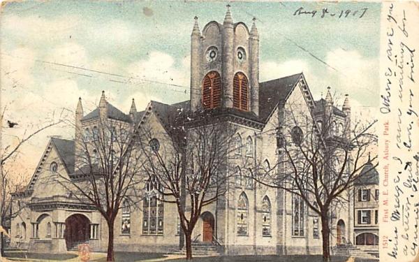 First M. E. Church Asbury Park, New Jersey Postcard