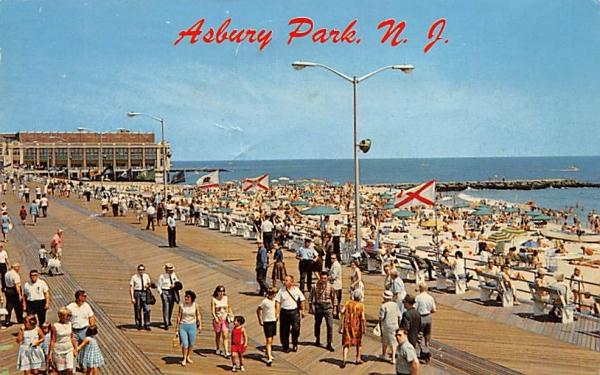 World Famous Boardwalk Asbury Park, New Jersey Postcard