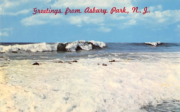 Ready for Surfing Asbury Park, New Jersey Postcard