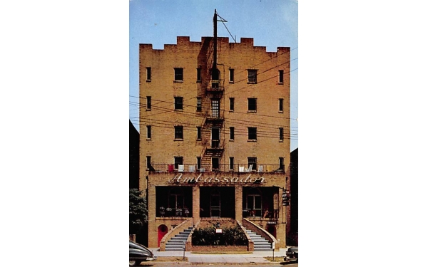 Asbury Ambassador Hotel Asbury Park, New Jersey Postcard