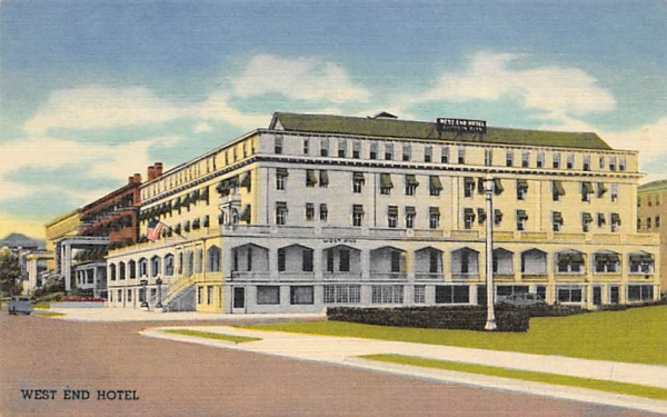 West End Hotel Asbury Park, New Jersey Postcard
