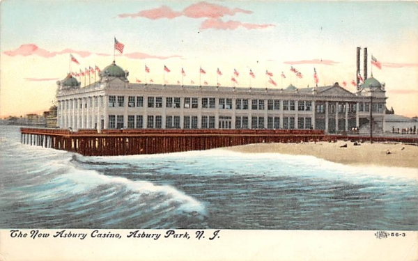 The New Asbury Casino Asbury Park, New Jersey Postcard