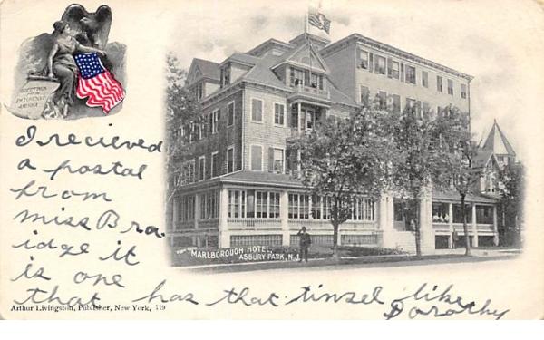 Marlborough Hotel Asbury Park, New Jersey Postcard