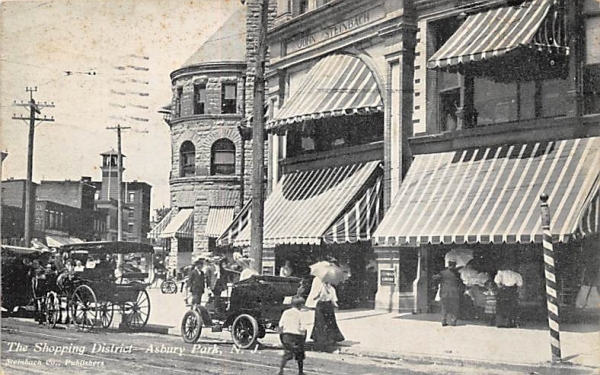 The Shopping District Asbury Park, New Jersey Postcard