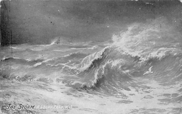 The Storm Asbury Park, New Jersey Postcard