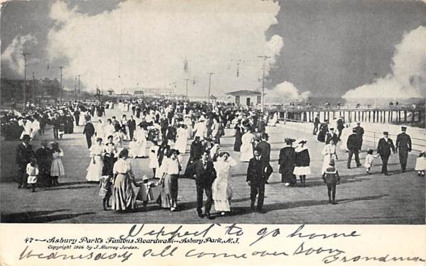 Asbury Park's Famous Boardwalk New Jersey Postcard