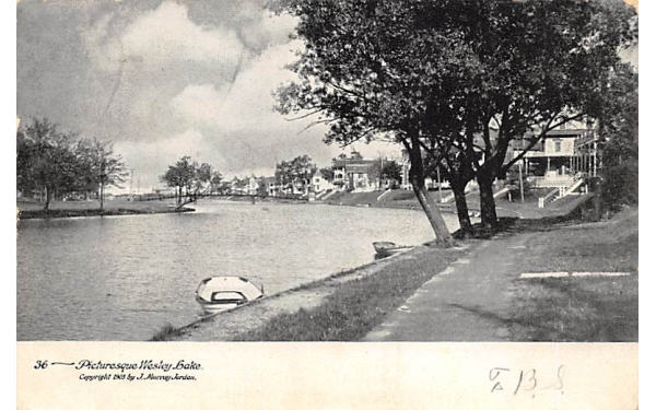 Picturesque Wesley-Lake Asbury Park, New Jersey Postcard