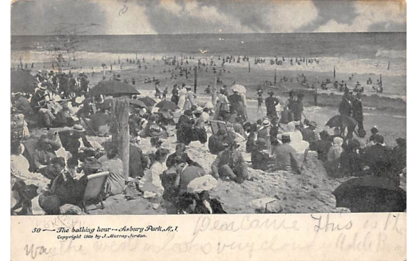 The bathing hour Asbury Park, New Jersey Postcard