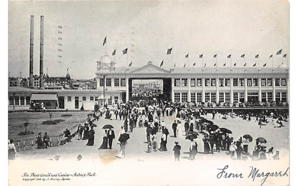 The Boardwalk and Casino Asbury Park, New Jersey Postcard