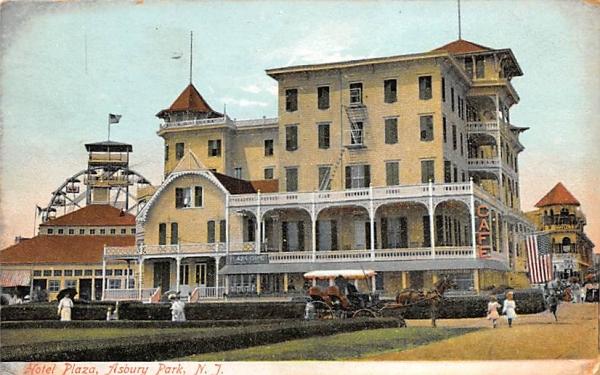 Hotel Plaza Asbury Park, New Jersey Postcard