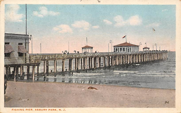 Fishing Pier  Asbury Park, New Jersey Postcard