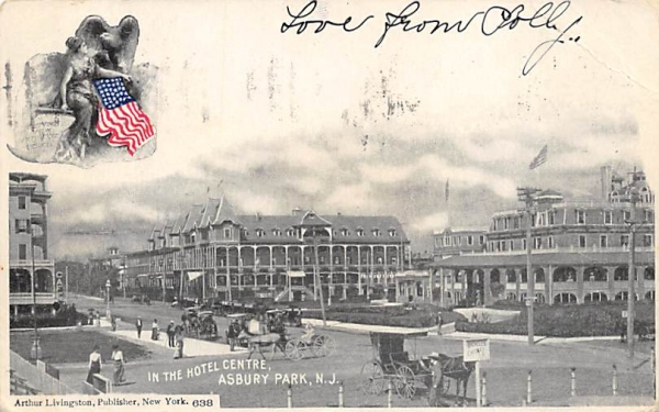 In the Hotel Centre Asbury Park, New Jersey Postcard
