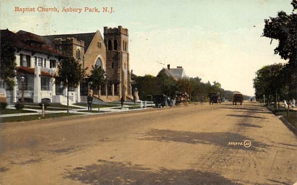 Baptist Church Asbury Park, New Jersey Postcard
