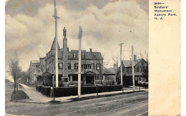 Soldiers' Monument Asbury Park, New Jersey Postcard