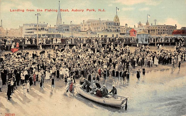 Landing from the Fishing Boat Asbury Park, New Jersey Postcard