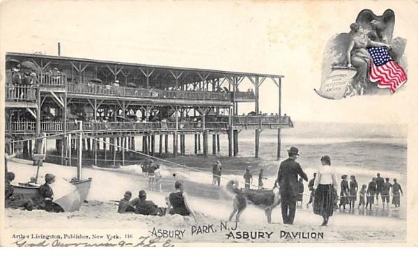 Asbury Pavilion Asbury Park, New Jersey Postcard