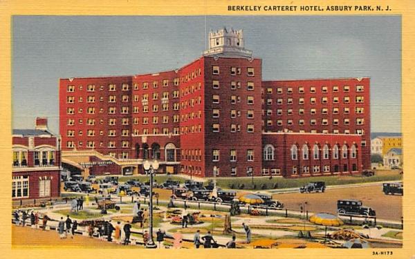 Berkeley Carteret Hotel Asbury Park, New Jersey Postcard