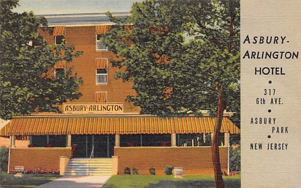 Asbury Arlington Hotel Asbury Park, New Jersey Postcard