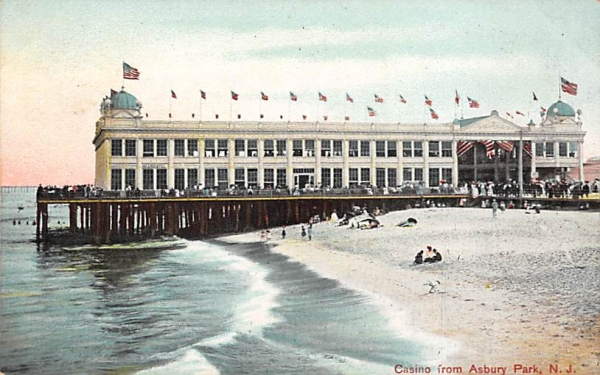Casino from Asbury Park, N. J., USA New Jersey Postcard