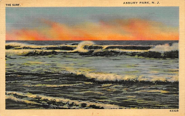 The Surf Asbury Park, New Jersey Postcard